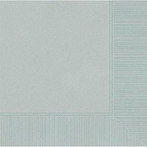 Amscan International Amscan 60215-18 - Servilletas de Papel (2 Capas, 50 Unidades), Color Plateado