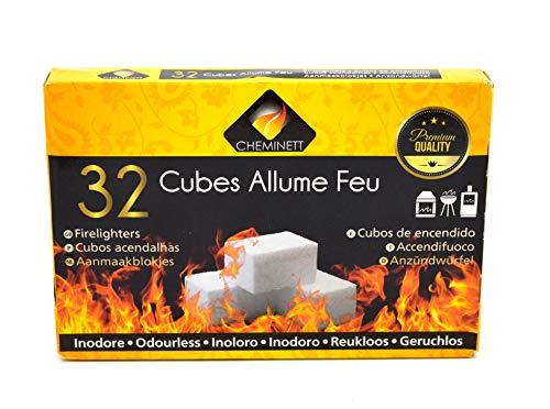Pyrofeu Caja de 32 Pastillas Encendido de Parafina para barbacoas y chimeneas