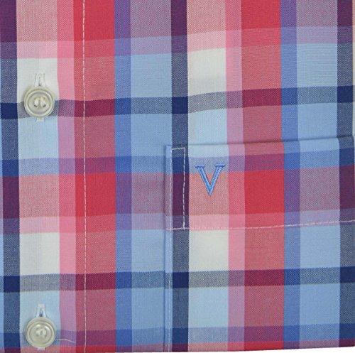 Marvelis halbarm Hemd Comfort Fit rot blau kariert Rot Blau