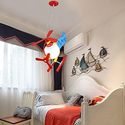 Leuchter, Cartoon Aircraft Jungen Mädchen Zimmer Kreative Schlafzimmer Nette Kinder Kronleuchter Umweltfreundliche Kronleuchter ( farbe : 2 ) - 3