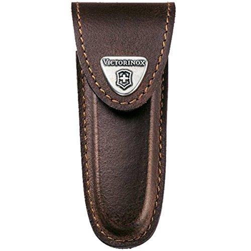 Victorinox Zubehör Lederetui Velcro-Verschluss geblockt Mantel, braun, One Size -