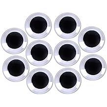 40 mm Ojos Movibles con Autoadhesivo, Negro,10 Paquete