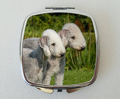 Starprint Sublimation Bedlington Terrier Miroir Compact Fantaisie Cadeau