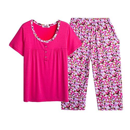 Estate ladies pigiami/Pantaloni manica corta/Loose sottile donne abbigliamento tuta B