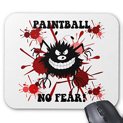 Funny No Fear Paintball Mauspad, 45,7 x 55,9 cm