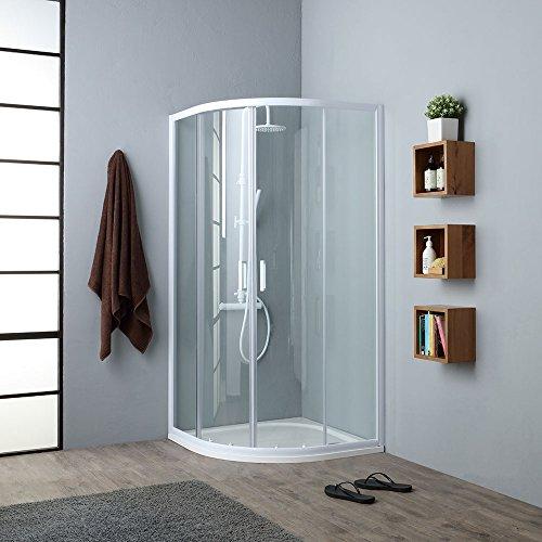 duschabtrennung viertelkreis Venere Duschkabine, Viertelkreis, 90 x 90 cm