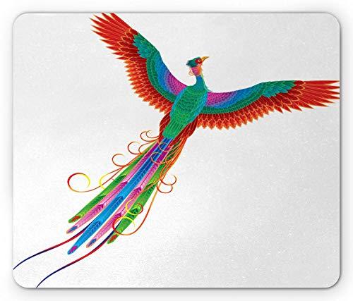 Preisvergleich Produktbild landu Mauspad,  Phoenix,  Symbol des ewigen Lebens der Vögel,  chinesisch,  Solar-Symbol,  Boho,  künstlerisches Design,  Surrealistisches Design,  rutschfest,  Gummi,  Standardgröße