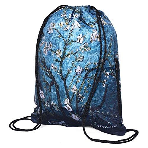 Zoresyn Wasserdichte Drawstring Bag Outdoor Sport Gym Rucksack Runner Sackpack Leicht für Männer und Frauen (Drawstring-sport-pack)
