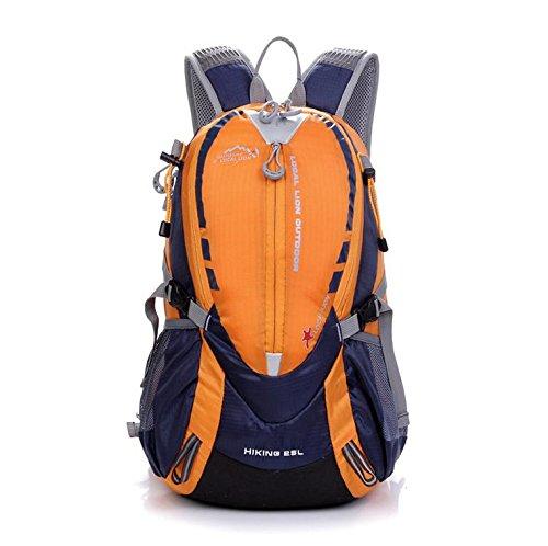 BM Borse da viaggio impermeabile Escursionismo Outdoor Pack per uomini e donne equitazione zaino 25L zaino , red Orange