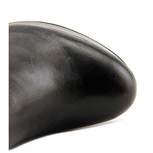 Aldo Aoaria Rund Leder Mode-Knie hoch Stiefel Black
