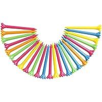 F Fityle 25 Piezas De 67 Mm De Color Mezclado De Plástico Golf Tees Golf Tool Aid