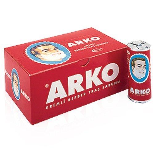 Stick de savon à barbe ARKO idéal pour les hommes aimant le rasage traditionnel! (3 sticks)