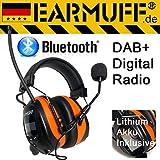 EARMUFF Original Radio numérique Dab + et Bluetooth–Extra Robuste Radio Casque Anti-Bruit avec Connexion Smartphone