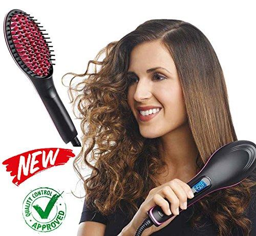EuroQuality Cepillo alisador de pelo – AsaVea cepillo alisador de cabello - #1 el desenredante de cerámica caliente más seguro y rápido , con un diseño patentado Anti-quemaduras