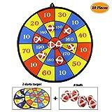 Gifort Deux Tissu Tissu Velcro Dart Conseil Dart Ball Game avec 8 Boules, Grand-36 cm (14.2 Pouces) de Diamètre, Coffre-Fort pour Enfants Enfants