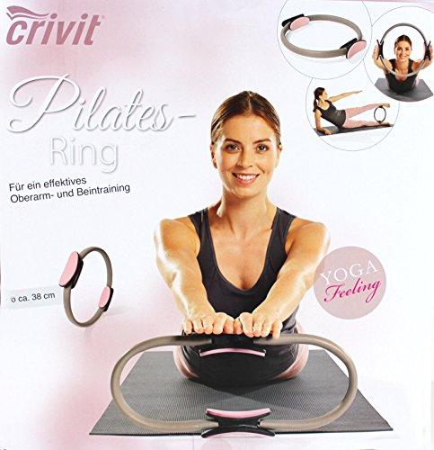 Pilates-SET rosa grau Gymnastik-Matte 10mm Fitness-Matte Pilates-Ring ü3ü 124 2853+
