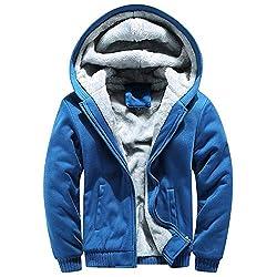 Ears Herren Hoodie Winter Warm Fleece Zipper Sweater Jacke Outwear Mantel Tops Blusen Kapuzenpullover Langarm Sweatshirt Casual Jacke Freizeit Sweatjacke T-Shirt Mode Sweatpullover