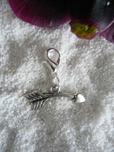 Charm Nr. 71 -Amors Pfeil- Bettel Armband Kette Anhänger SaWi Liebe Freundschaft (Pfeil-freundschaft-armband)