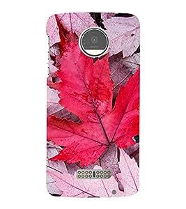 PrintVisa Maple Leaf 3D Hard Polycarbonate Designer Back Case Cover for Motorola Moto Z :: Motorola Moto Z Droid in USA