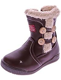 Mädchen Stiefel Kinder Winter Boots Halbstiefel  2 Reißverschlüsse EUR  24-30