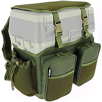 DNA NGT Carp Coarse Fishing 600D Seat Tackle Box Canvas Carry Shoulder Straps Bag with Pockets THIS IS FOR THE COVER & POCKETS ONLY by DNA