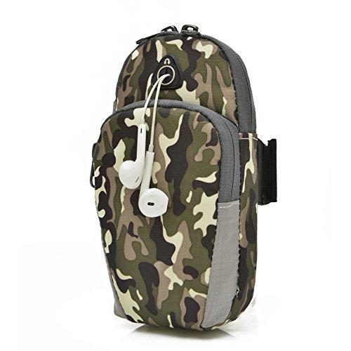 Handy - Arm - Tasche, Sport, Laufen, Arm - Tasche, Arm - Ärmel, Männer Und Frauen Arm Band Camouflage green