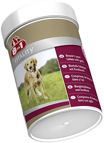 8in1 Bierhefe Tabletten (Nahrungsergänzung, für gesunde Haut und glänzendes Hundefell, reduziert nährstoffmangel-bedingtes Haaren), 1 Dose (260 Tabletten) - 4