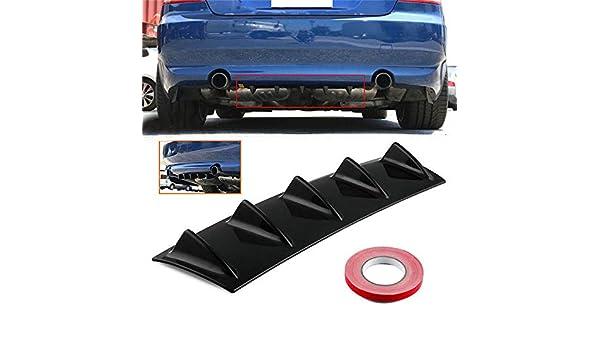 BAAQII Universal Car Rear Bumper Body Kit Shark Fin Spoiler Lip Diffuser Trim Cover Lower Rear Body Spoiler 3 Fin