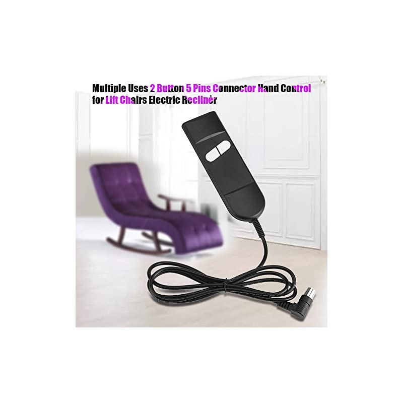 DEWIN Recliner Chair – Recliner Armchair Electric Recliner Button Multiple Uses 2 Button 5 Pins Connector, Hand Control…