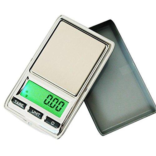 Wokee Digitale Taschenwaage 500g/0,01g,Mini Digital LCD Balance Gewicht Tasche Schmuck Diamant Skala,mit aufklappbarem Schutzdeckel, inklusive 2 x AAA Batterien,Digital-Waage, Fein-Waage, Küchen-Waage, Präzisionswaage, Elektronische Waage Digital Balance