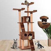 Leopet – Árbol rascador para gatos con cuevas, escaleras y plataformas – color marrón