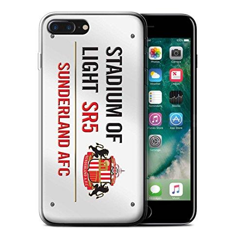 Officiel Sunderland AFC Coque / Etui Gel TPU pour Apple iPhone 7 Plus / Pack 6pcs Design / SAFC Stadium of Light Signe Collection Blanc/Rouge