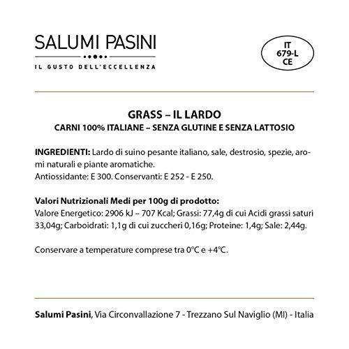 Salumi Pasini - Grass - Lardo intero - Collezione Davide Oldani 700g