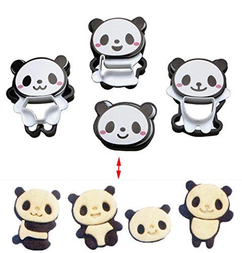 Comfysail 4 Arten 1 Satz Kunststoff Schönes Panda Form DIY Kuchen Plätzchen Form Werkzeug Partei Heim Frühstück