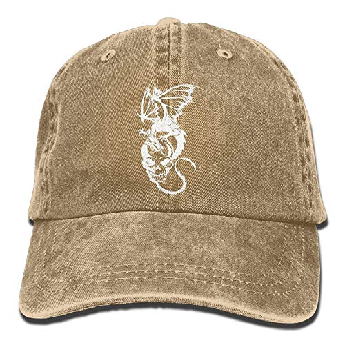 WYYCLD Men and Women Skull and Dragon-1 Vintage Jeans Baseball Cap