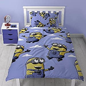 Despicable Me Childrens/Kids Official Bellow Minions Reversible Duvet Cover Bedding Set