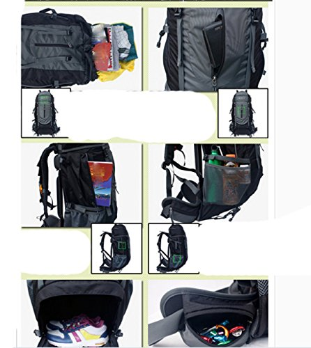 LAIDAYE Außentasche Bergsteigen Taschen Bulk Taschen Reisetaschen Sporttasche Tasche Schulter Red