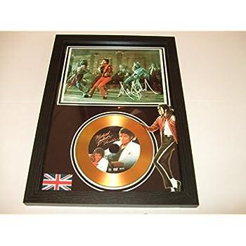 gold disc frames Michael Jackson d/édicac/é Disque dor