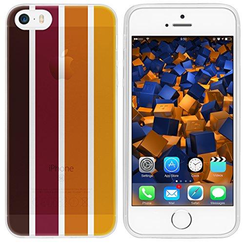 mumbi TPU Silikon Schutzhülle für iPhone SE 5S 5 Hülle in schwarz Herbst braun