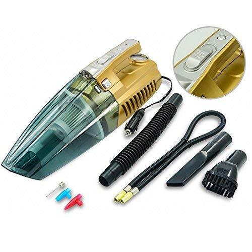 woyao13deng 4-in-1 Handstaubsauger, Auto aufblasbar, Staubsaugen, Beleuchtung, Reifendruck Monitoring.Use Zigarettenanzünder Supply Staubsauger Auto Staubsauger