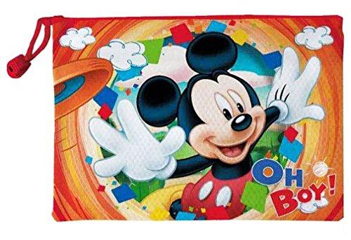 Trousse de toilette imperméable enfant garçon Mickey Orange 29x21cm