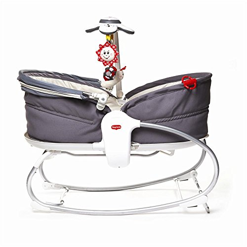 Tiny Love Cozy Rocker-Napper gemütliche Babywippe, Baby-Schaukel und Babybett in einem, inklusive Vibration und Mobile mit Verdeck, mehrfarbig
