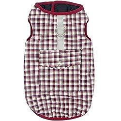 Feidaeu Vêtements pour Animaux imperméables Peau antibactérienne Veste Souple et Confortable Veste Petit Moyen Gros Chiens
