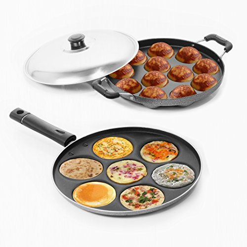 Sumeet Nonstick Delight Combo Set (Multi Snack Maker - 7 Pcs + Grill Appam Patra - 12 Pcs)  available at amazon for Rs.949
