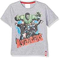 Marvel Boy's Avengers C T-Shirt, Grey, 7-8 Years (Manufacturer Size:8 Years)