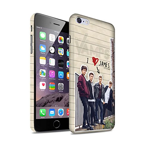 Offiziell The Vamps Hülle / Matte Snap-On Case für Apple iPhone 6+/Plus 5.5 / Pack 5pcs Muster / The Vamps Geheimes Tagebuch Kollektion James