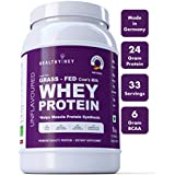 HealthyHey Whey Protein Concentrate (Produced In Germany) - 80% Protein - (Unflavoured - 1 Kg)