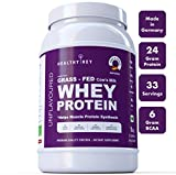 #3: HealthyHey Whey Protein (Made in Germany) - Unflavoured - Made from Grass-Fed Cow's Milk (Unflavoured, 1 kg)