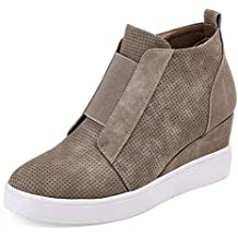 Zapatillas Deportivas de Mujer Sneakers Cuña Botines Casual Zapatos para Dama Plataforma Piel Tacon Medio Ancho