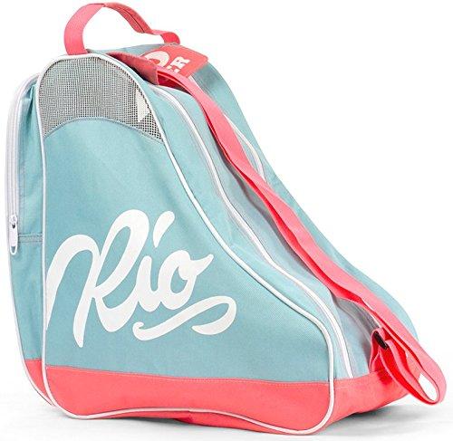 Rio Roller Unisex-Erwachsene Script Skate Bag Stofftasche, Mehrfarbig (Teal/Coral), 24x15x45 centimeters